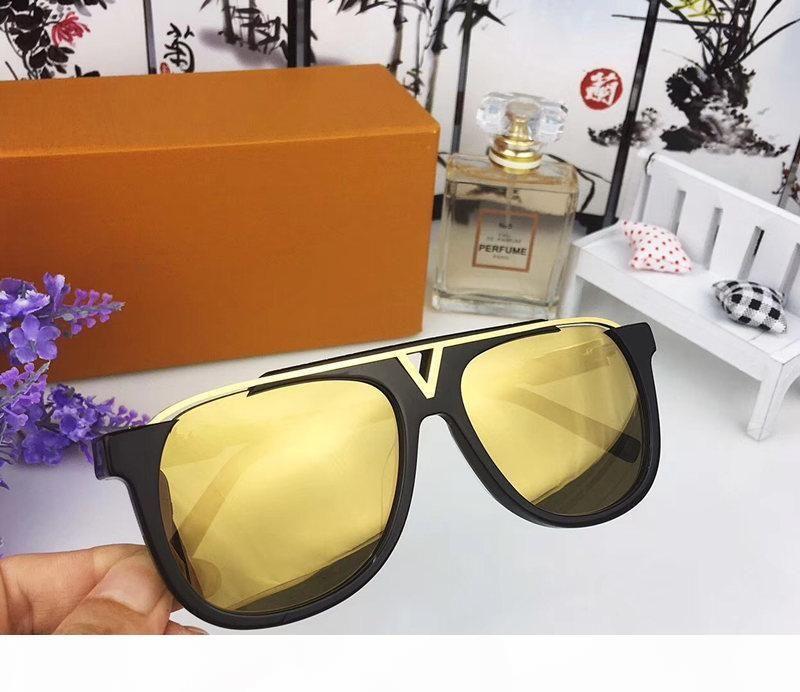 kutunun 0937 ile Erkekler Popüler Tasarımcı Güneş Retro Vintage Parlak Altın Yaz Stili Lazer Logo Altın Kaplama UV400 Gözlük İçin Lüks