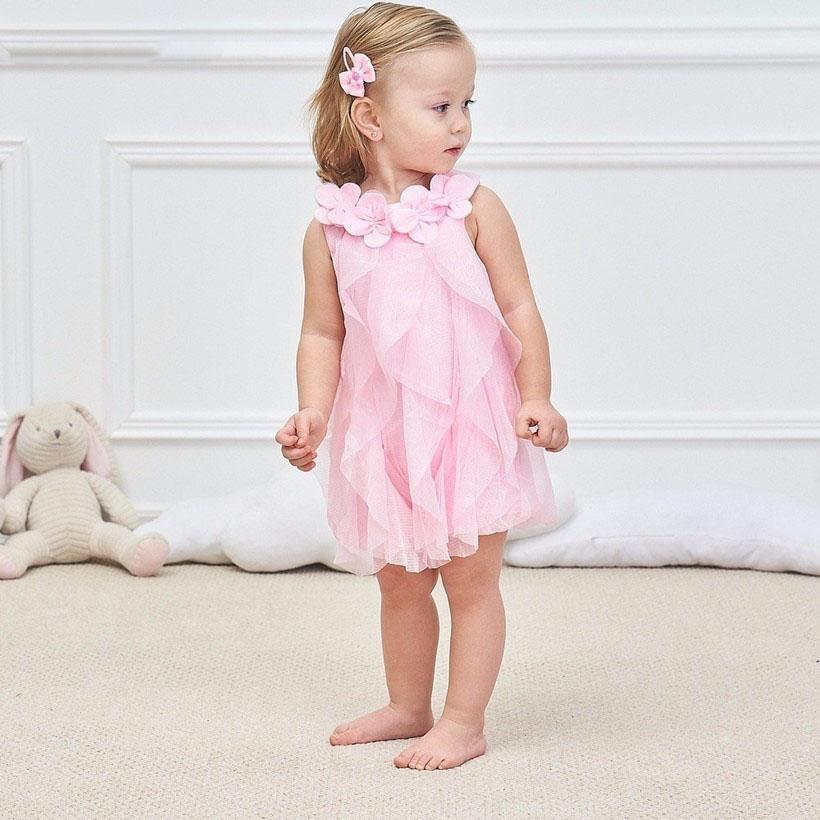 2020 estate di cotone bambino neonato vestiti Abiti bambino appena nato Girl Dress Lace Clothes principessa Baby Dress Toddler