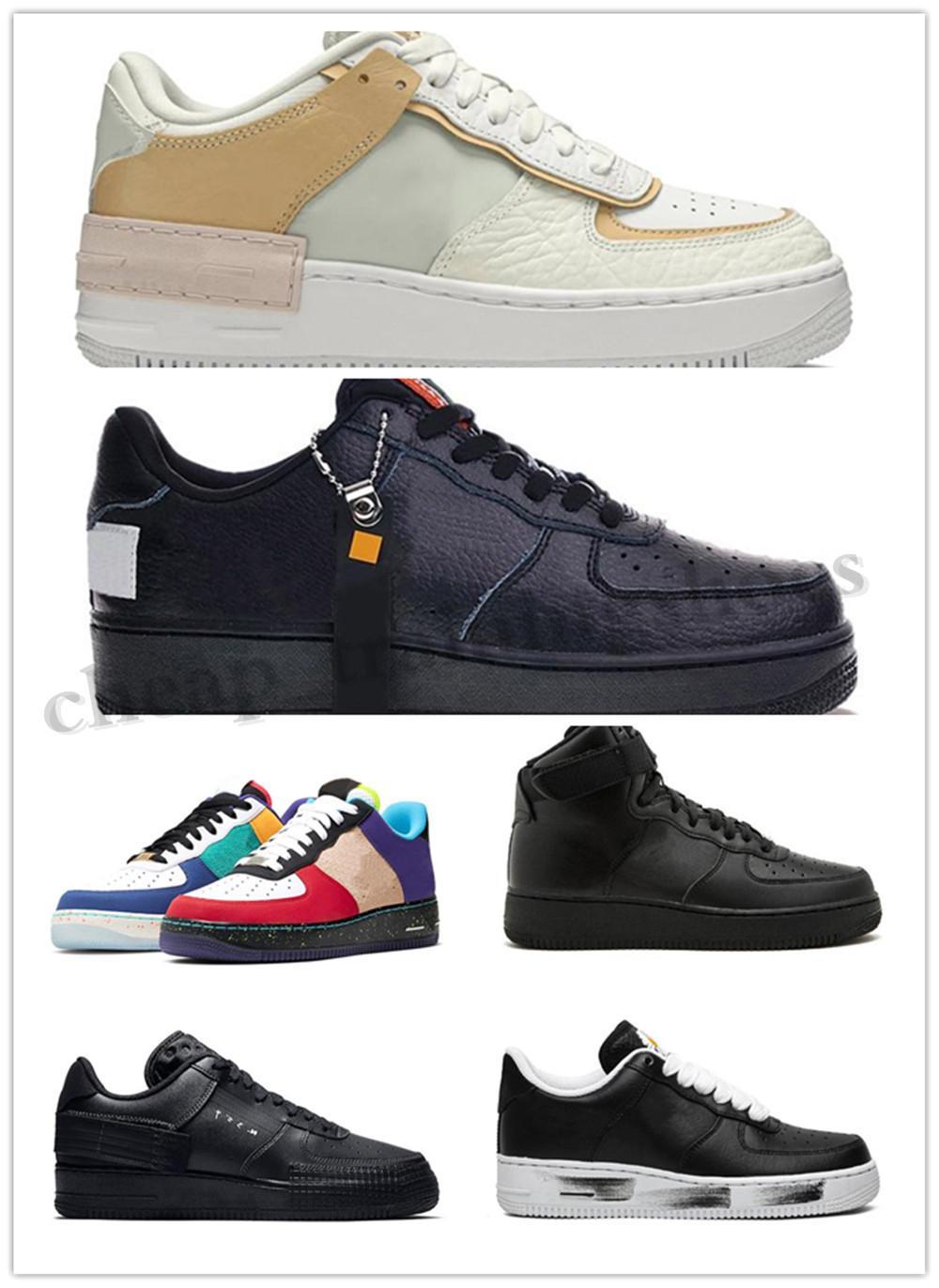 Nike air force 1 af1 n354 Dunks boylu erkekler kadınlar düşük siyah beyaz buğday bir ayakkabı tek mens tasarımcı Sports spor ayakkabıları Eğitmenler ayakkabı TO05 womens örgü