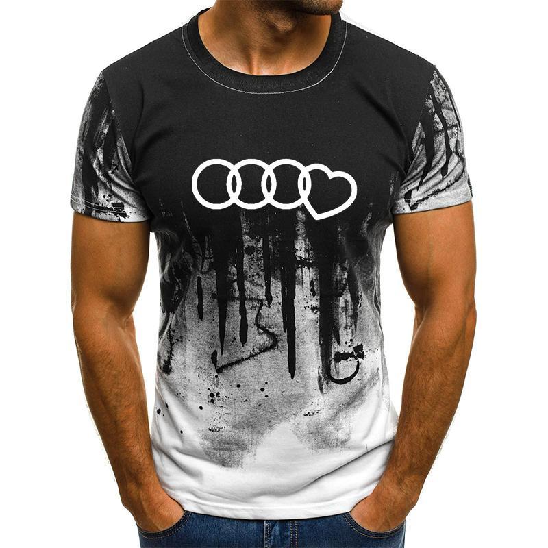 New Tot Verkauf Plus Size T-Shirt Männer-Steigung-Farben Kurzarm Printed Witzige T-Shirts Sommer-Art- und Hip Hop-Mann-T-Shirt Top