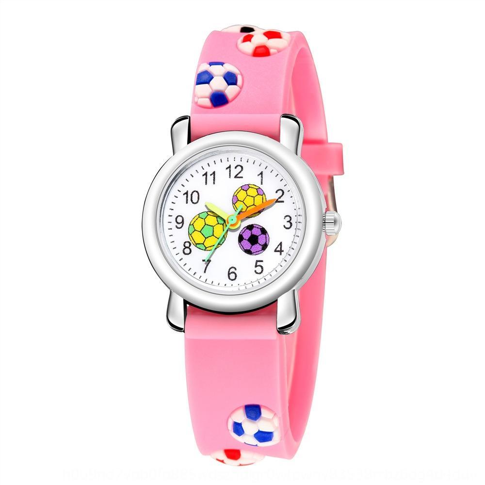 niños de dibujos animados en 3D Regalo alivio cinta de plástico fútbol reloj patrón del estudiante del reloj regalo del estudiante linda