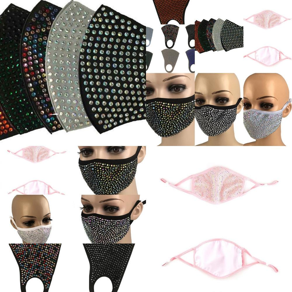 Bling Diamant Mode Schutz Bling Staubdichte Maske PM2.5 Mundmasken Waschbar wiederverwendbar Tszj Ior01