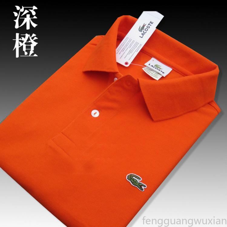 20SS alta calidad cocodrilo del polo hombres camisa de algodón cortos sólido del verano del polo Polo Homme T-camisas para hombre camisas de polos Poloshirt FGe08