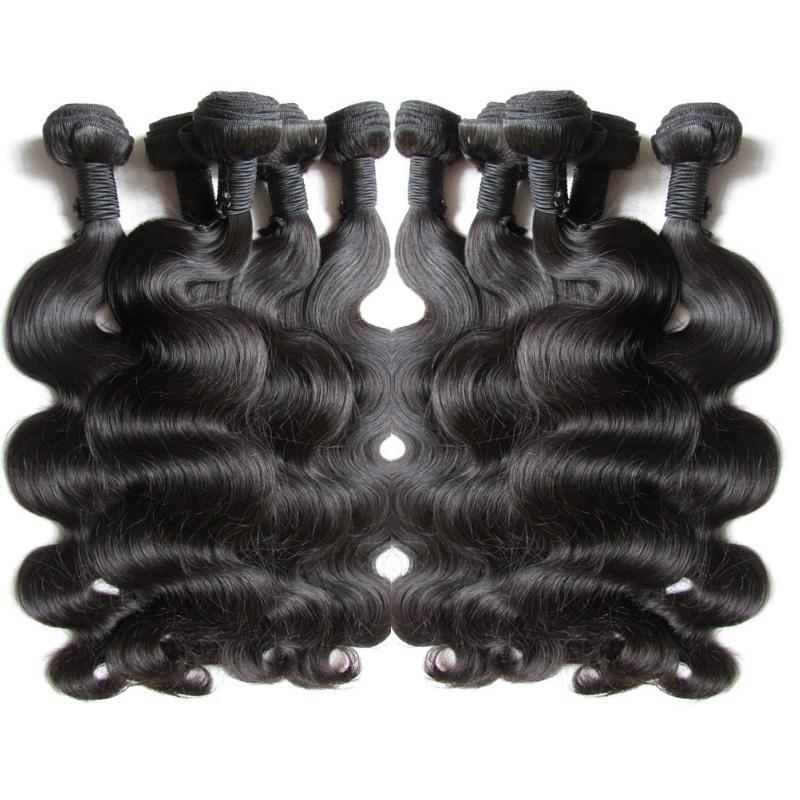 الجملة الأصل البرازيلي العذراء شعر الجسم موجة 1 كيلوجرام 10 قطع غير المجهزة ريمي الإنسان الشعر التمديد حزمة نسج بشرة محاذاة الشعر