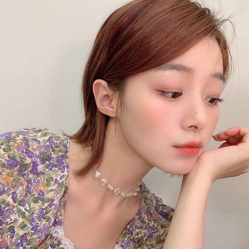 Südkorea-Kragen-Frauen Halsband süße frische In einfachen Halskette Mori Short Immortal Gas Claviclekette