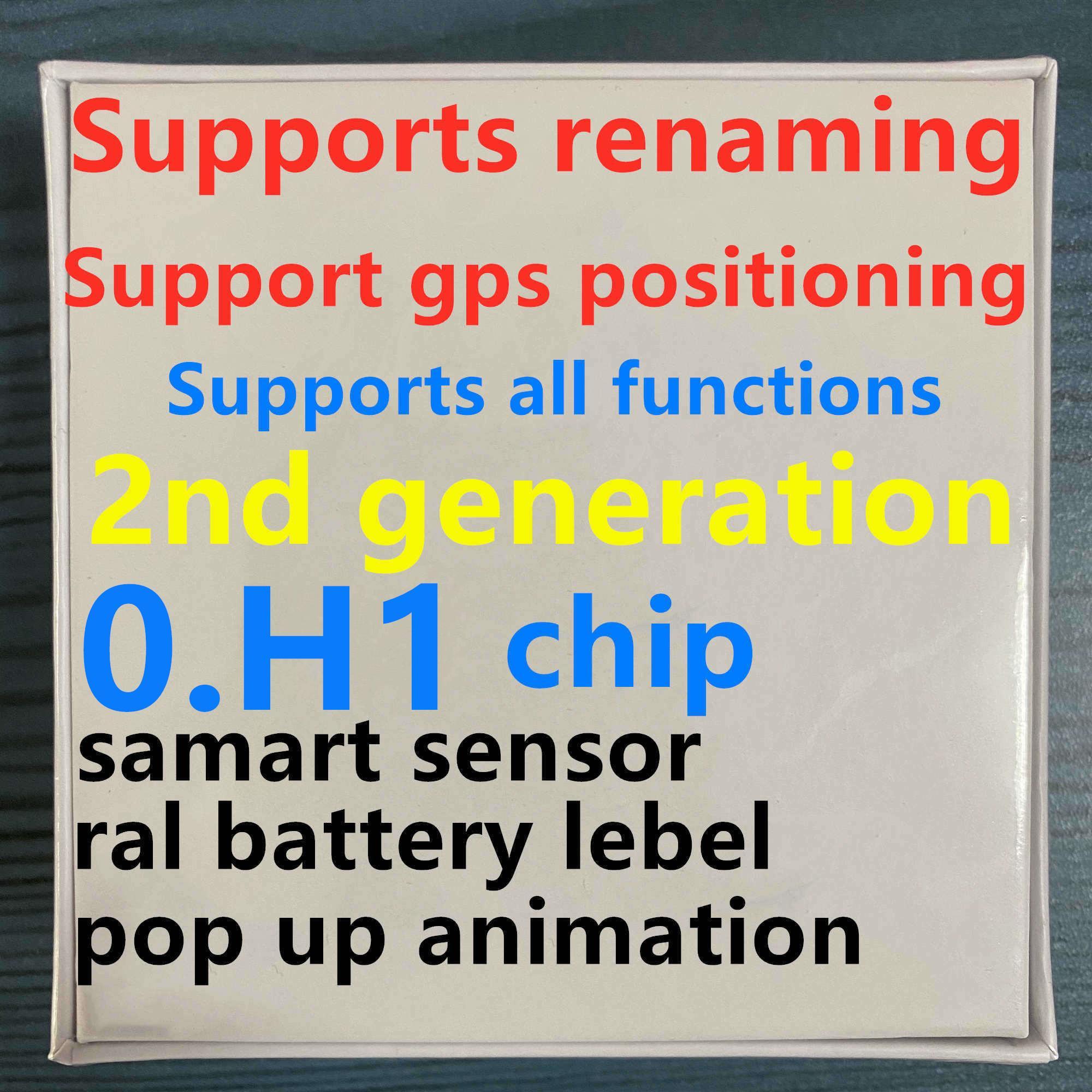 0 H1 이어폰 칩 GPS를 이름 바꾸기 에어 AP3 2 개 포드가의 경우 이어폰을 충전 창 블루투스 헤드폰 자동 페어링의 wireles 팝업 AP2 TWS 세대 프로