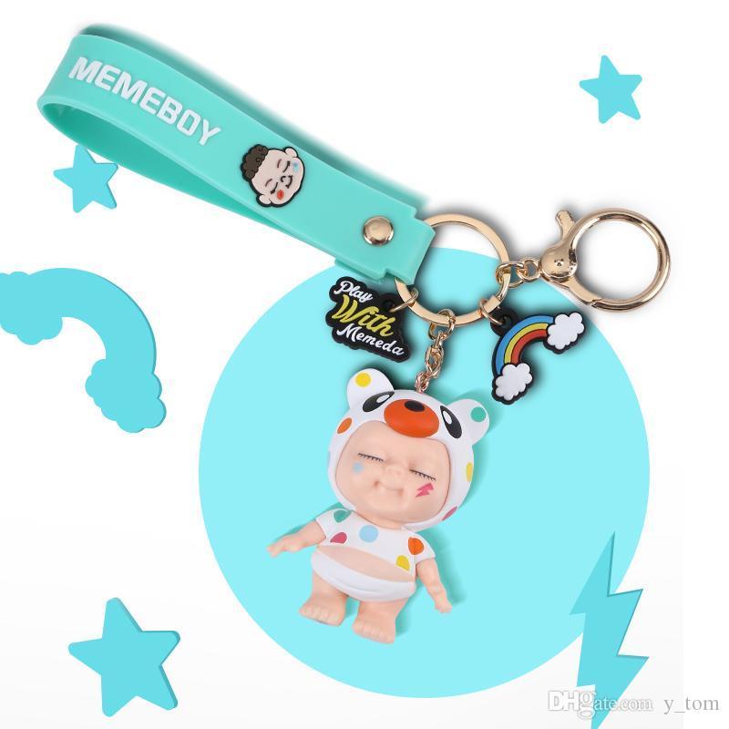 40pcs Cute Keychain Gift Toy Nieuwe Cartoon Leuke Baby Auto Sleutelhanger Creatieve Sleutelhanger Tas Hanger Voor Vrouwen tas Sleutelhanger