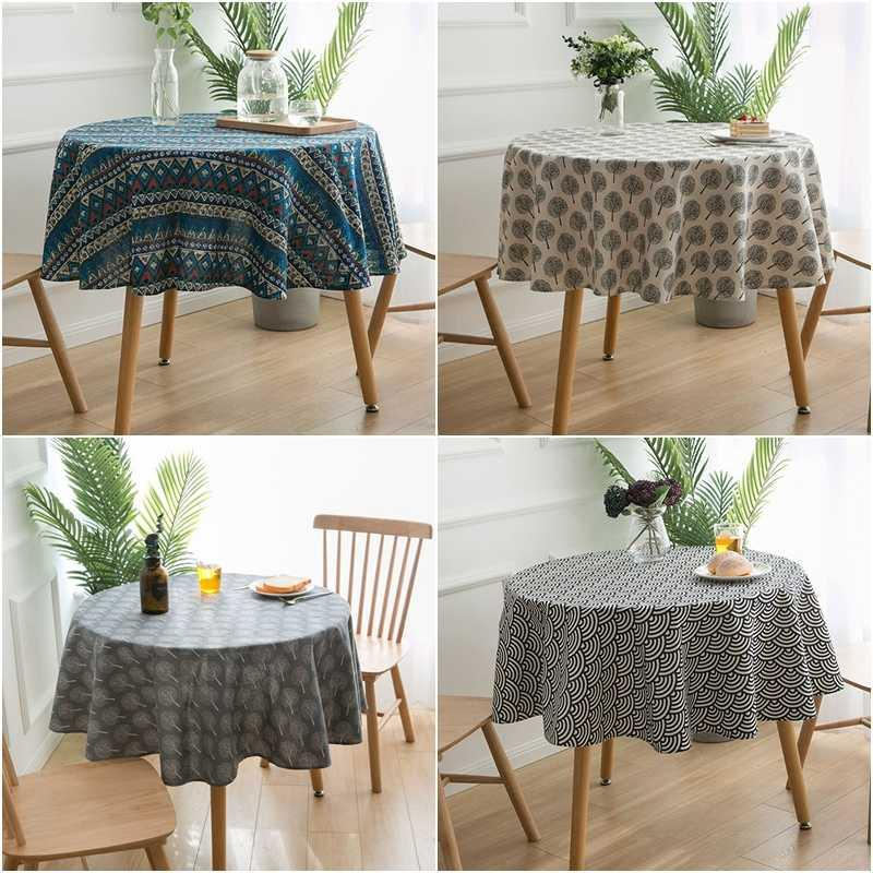 Round Table Cloth Tree Pattern Table Cover Hotel Household Tablecloth For Kitchen Dining Living Room Cover Home Decor Picnic Tablecloth Round Table Cloths From Lixsheer 35 06 Dhgate Com