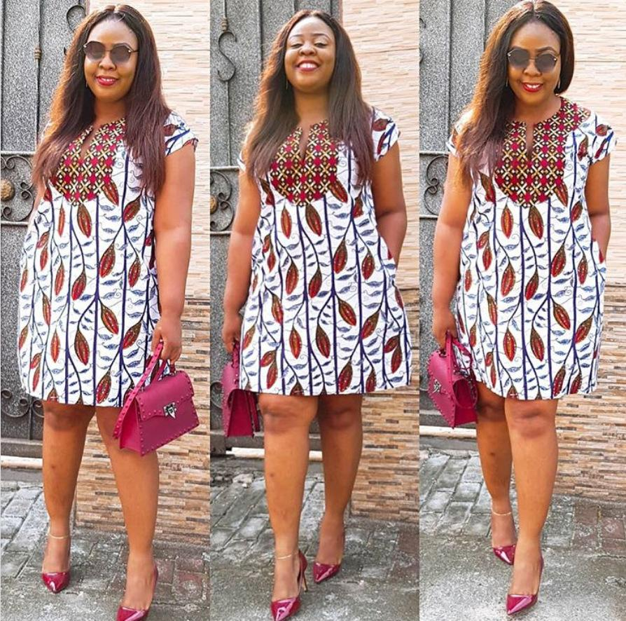 Summer V-neck Dress Ladies 2020 African Clothes 4 Colors Plus Size Pocket Elegant Dashiki Print African Dresses for Women Robe