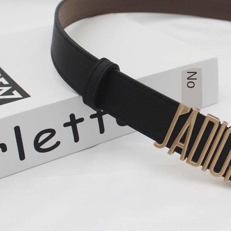 negocio de la moda Negro PU negocio carta de costura D en moda mujer Negro cinturón de carta de costura de la PU de las mujeres de las mujeres mujeres Dbelt