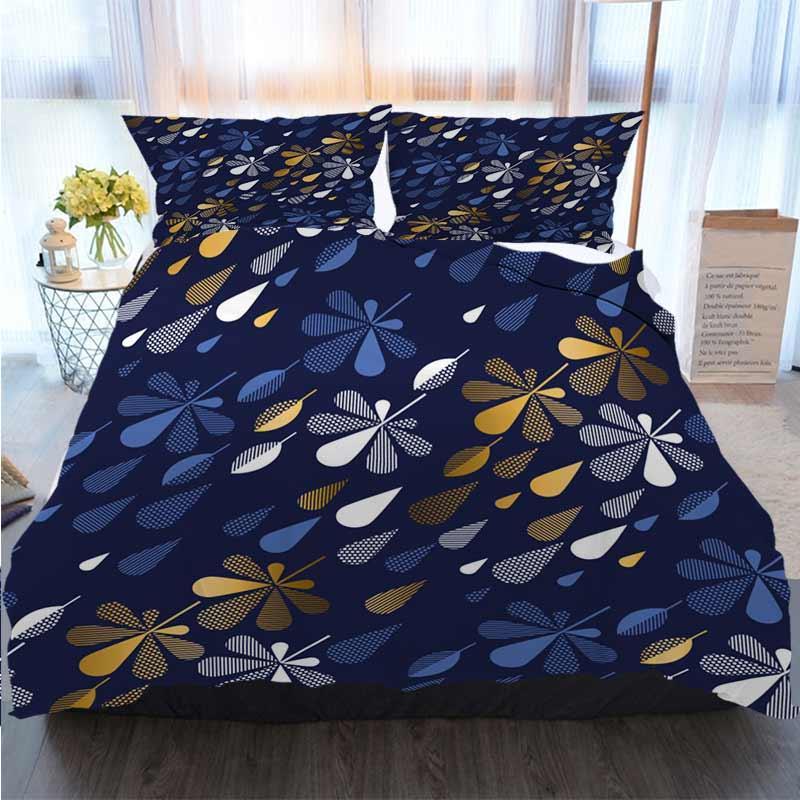 Designer 3D letto di illustrazione Autumn Leaves vettore astratto seamless pattern Copripiumino trapunte Designer Bed Sets