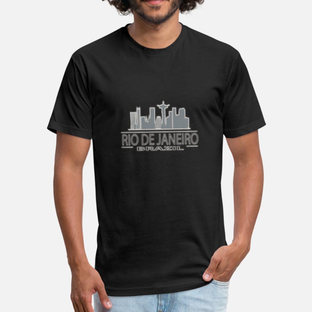 Río de Janeiro Horizonte Brasilien Schriftzug hombres de la camiseta personalizada del equipo de la manga corta camisa de cuello normal Antiarrugas nuevo de la manera del otoño del resorte