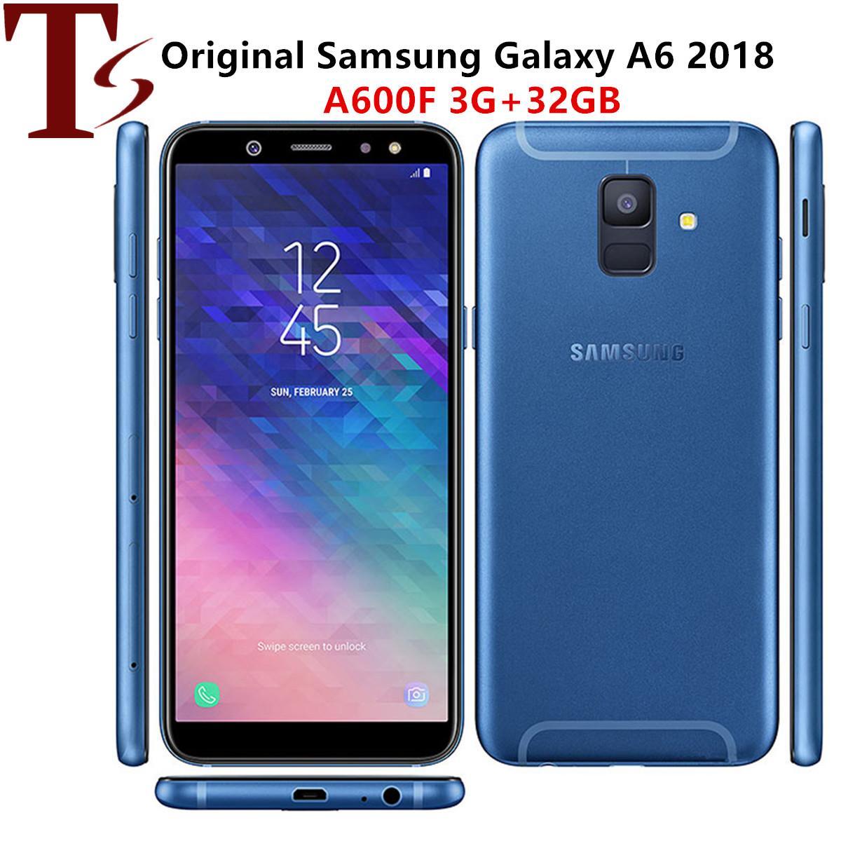 Оригинальное Восстановленное Samsung Galaxy A6 2018 5,6-дюймовый окт Ядро 3GB RAM 32GB ROM 16MP разблокирована 4G LTE Android смартфон