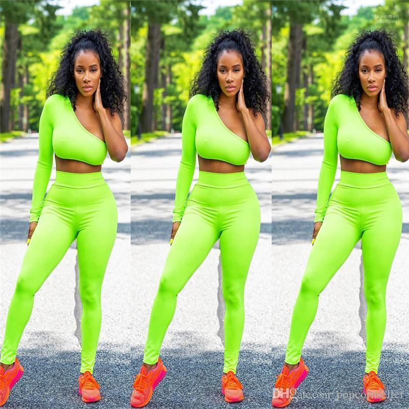 Bref Casual Couleurs Costumes Designer Pull Tenues Mode Femmes Vêtements Femmes Designer Deux pièces Survêtements fluorescent
