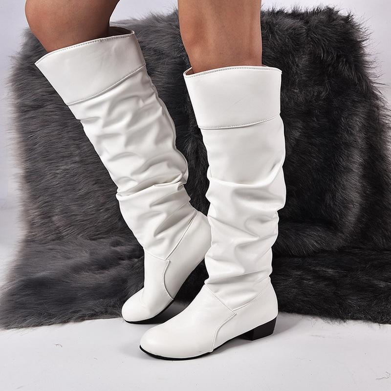 2020 zapatos de invierno botas de mujer muslo tacones altos zapatos de cuero botas para damas zapatos delgados punk punk blanco botas mujer