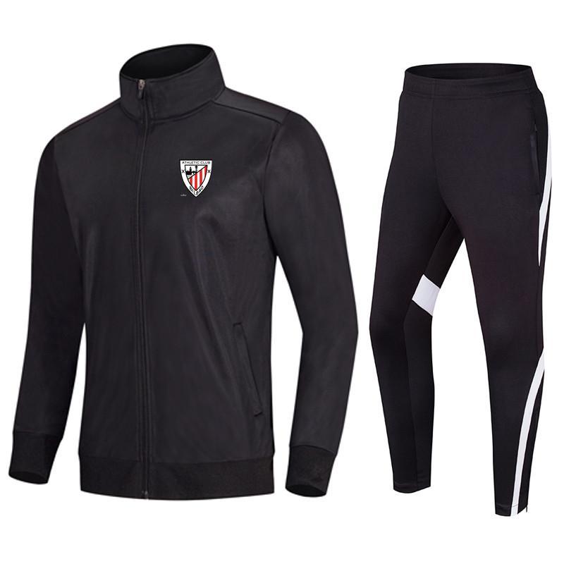 Athletic Bilbao Football Club Top Courir Survêtement Homme Veste de loisirs en plein air Formation Costumes de sport Jogging Porter adultes Tracksuts