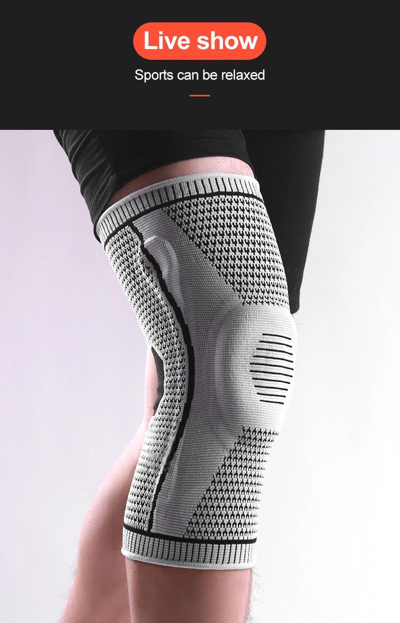 1PCS joelheiras Sportswear Acessórios New Outdoor Compression Sports Silicone Primavera respirável joelho cotovelo Pads