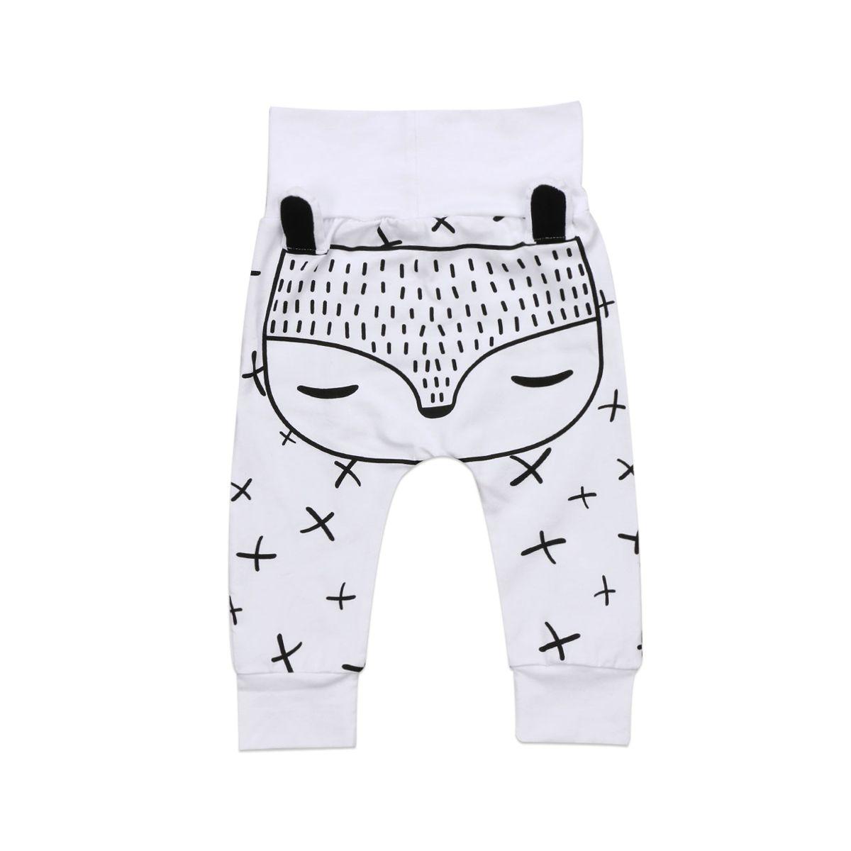 Kids Newborn Baby Boys Girls Long Harem Pants Trousers Leggings Fox Bottoms New Warm Harem Pants Hot MX200811