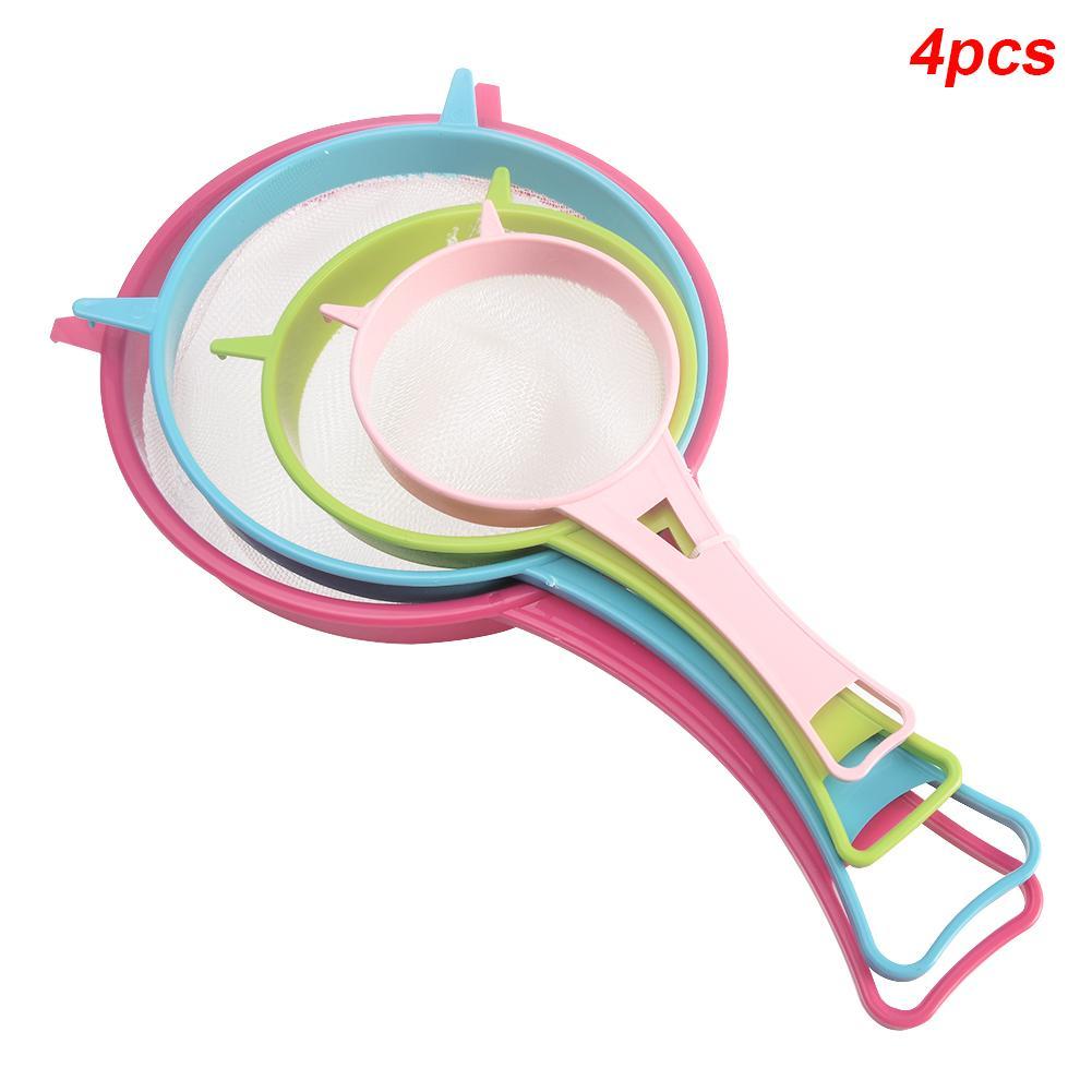 Mutfak Süzgeç Elek 4 adet Sap Plastik Mutfak Aletleri Çok Amaçlı Gadget
