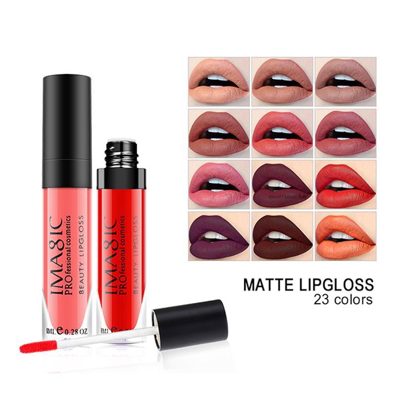 8ML Lip Gloss Beauty Líquido batom Hot Sexy pintura das cores Matte Lipstick Waterproof Longa Duração maquiagem profissional Cosméticos