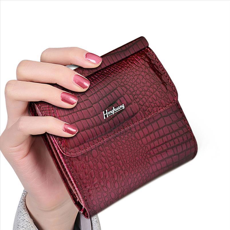 Titulaire en cuir courte femme portefeuille mini sac à main femme véritable sac à main HH embrayage dadys carte monnaie femme portefeuilles lsvqi