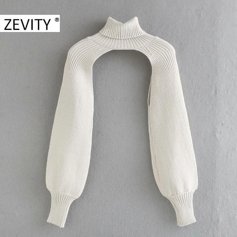 ZEVITY nuove donne di alta strada collare dolcevita maglia maglione maglioni casuali maniche lunghe femminile pullover chic cime S407