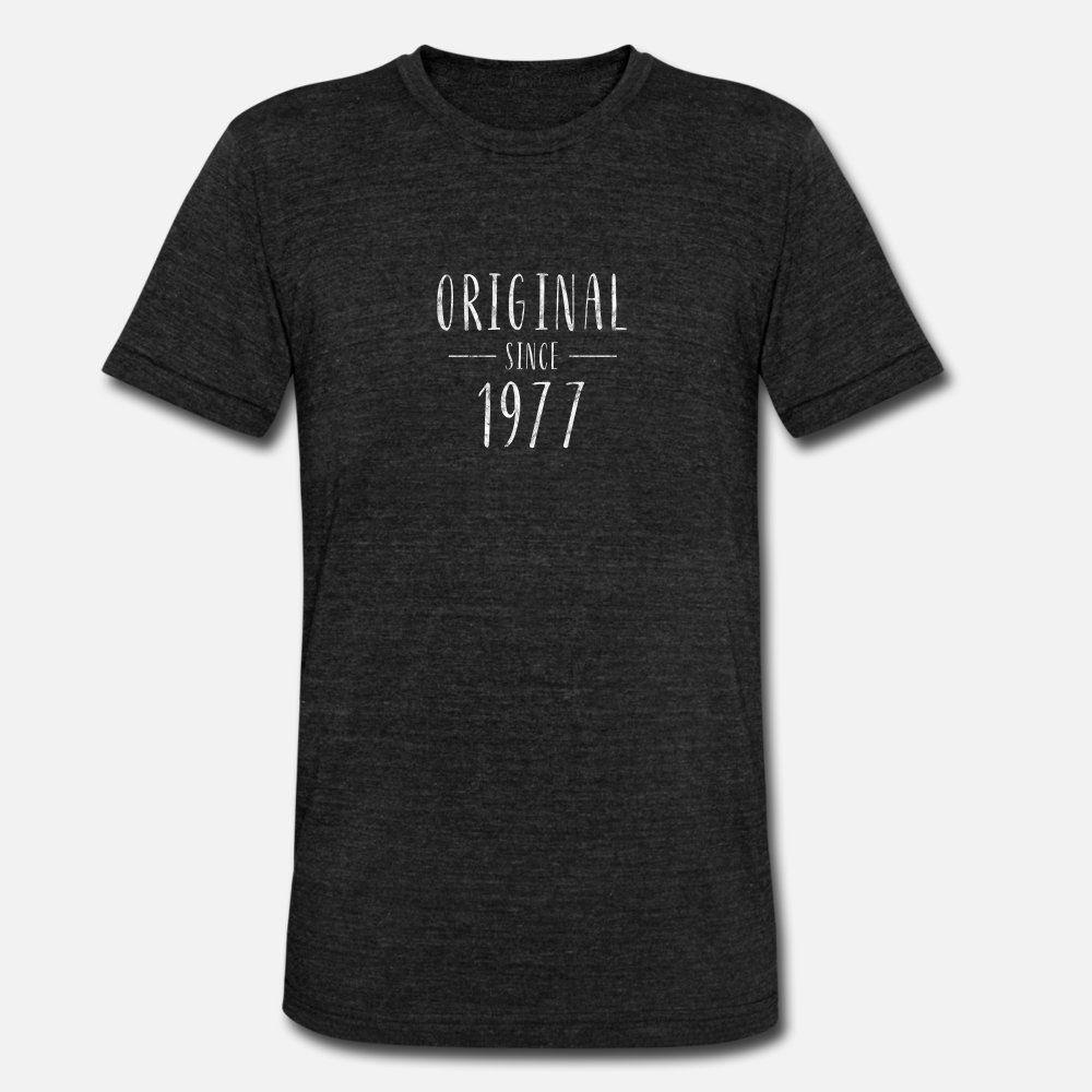 Desde 1977 original apenó nacido en 1977 hombres de la camiseta 100% algodón Diseño de cuello de O encajan Fit Humor camisa del patrón del verano
