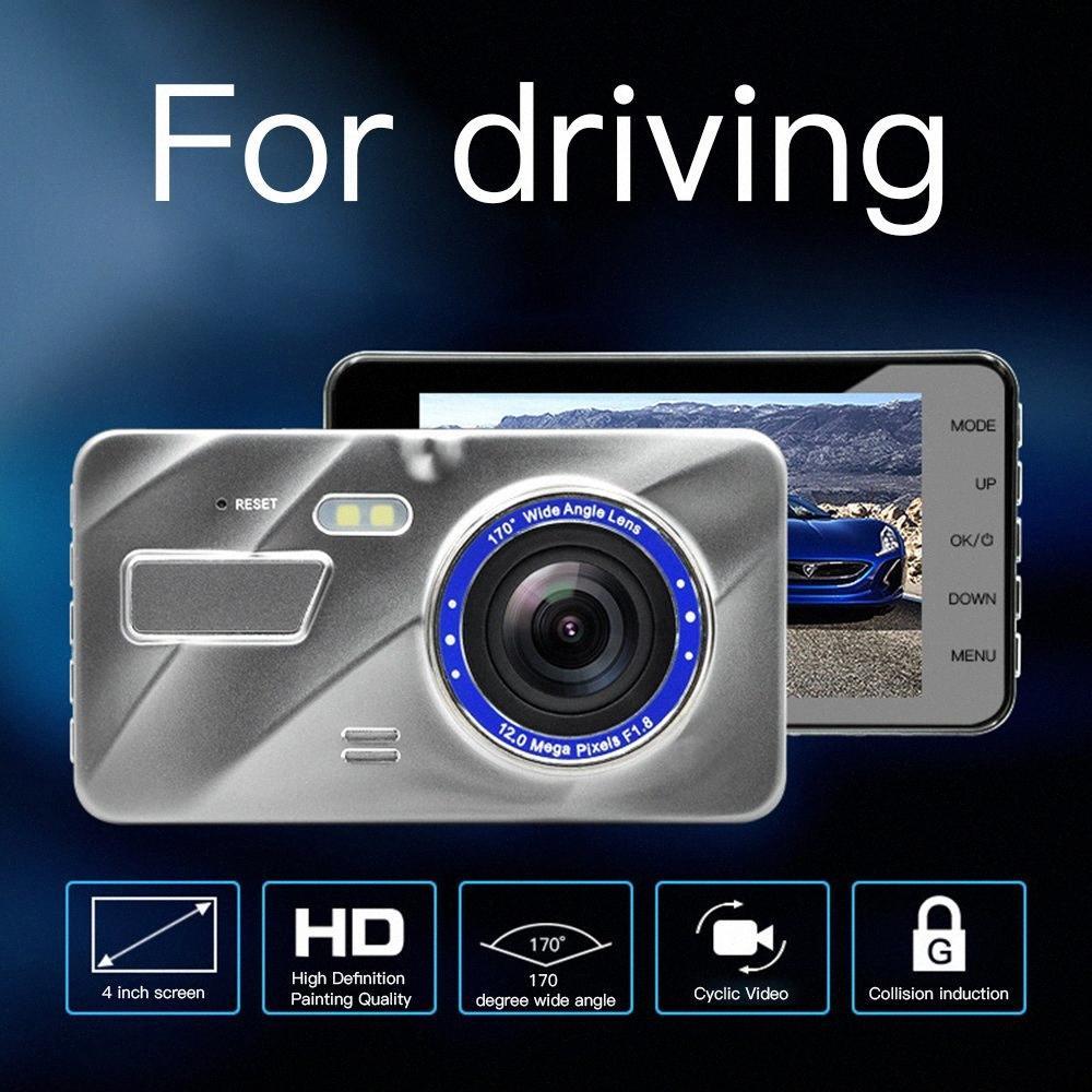 170 Grad Weitwinkel 4.0 Zoll 1080P HD Dual Lens Tachographen hintere Ansicht-Kamera-Auto-DVR HD Videogerät Data Recorder 5 Y2tD #