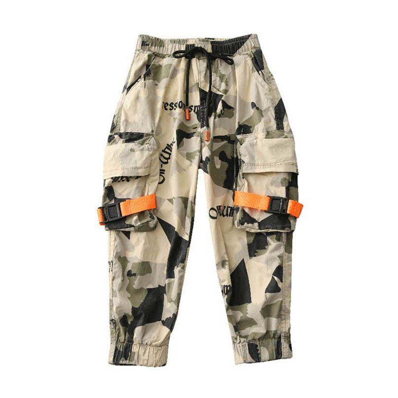 Moda muchachos grandes pantalones sueltos niños ocasional de los pantalones pantalones de los niños grandes chicos ropa ropa de niños ropa adolescente Pantalones Cargo B1984