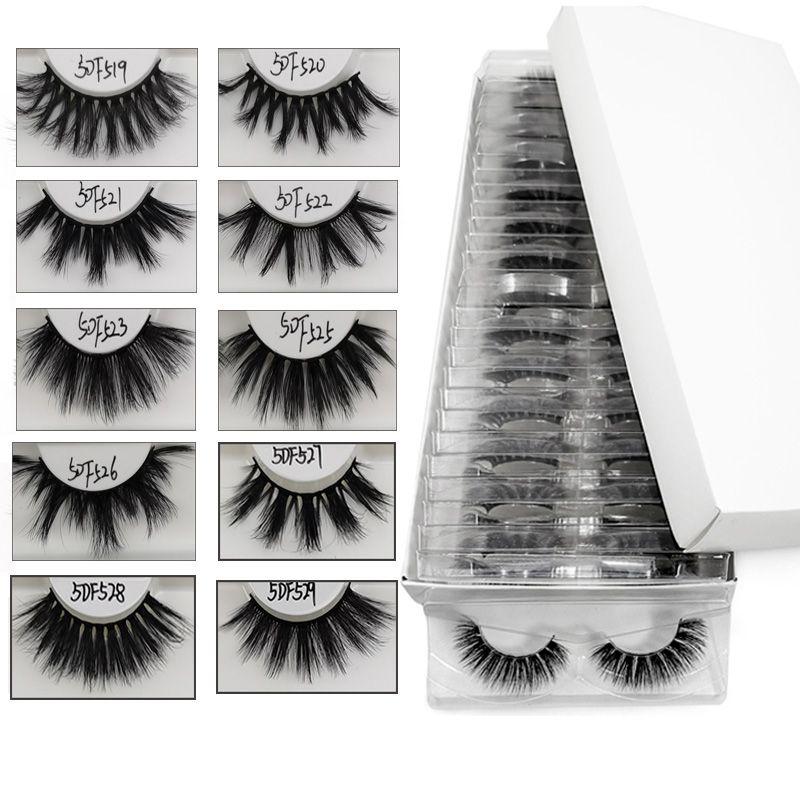 25MM gros Cils main 5D Cils en vrac épais maquillage dramatique long faux cils Extensions Mix 10/20/30 paires