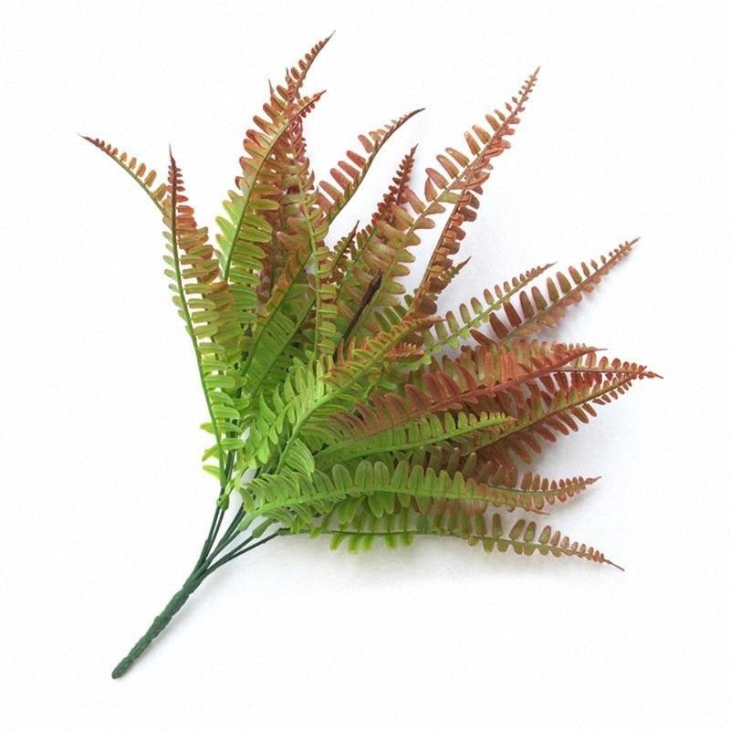 New Hot Handmade plantas de eucalipto folhas grama Ferns plástico Simulação flor do casamento Planta Início Tabela Decorações SM ZSme #