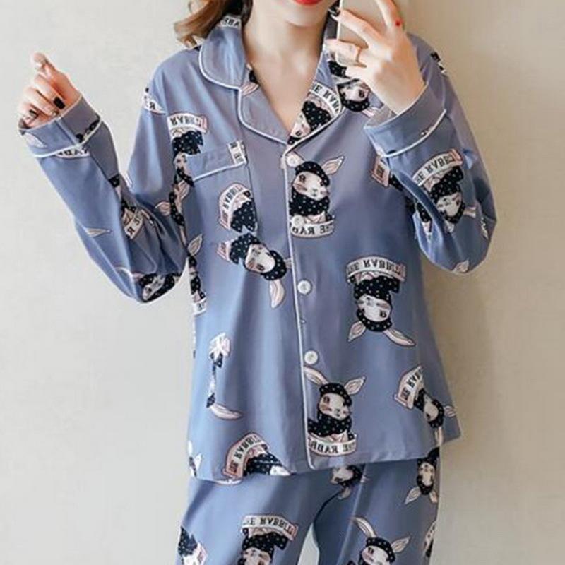 2pcs femmes Shorts Tenue de nuit Chemise de nuit Printemps Automne Hiver Dames Filles Cartoon Automne extérieur Worn