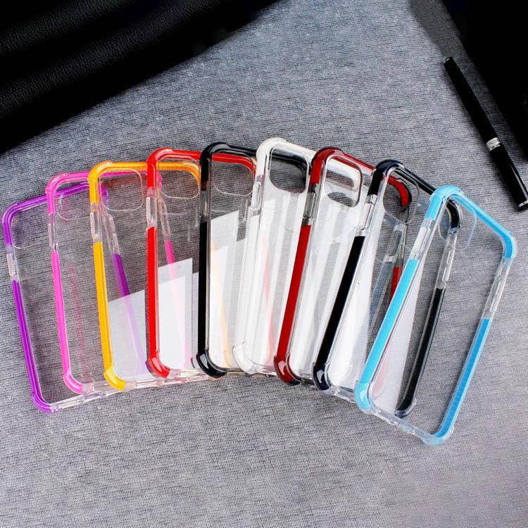 Custodia per cellulare TPU TPU a due toni Custodia per cellulare Hybrid Cover antiurto Proteggi per iPhone 7 8Plus XR x Max 11 Pro 12