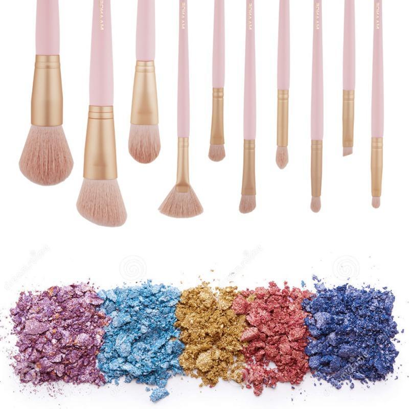 Nuovo 10pcs spazzole di trucco di bellezza compone le spazzole strumento Powder Foundation Brush Blush Blending Brush ombretto Lip Cosmetic