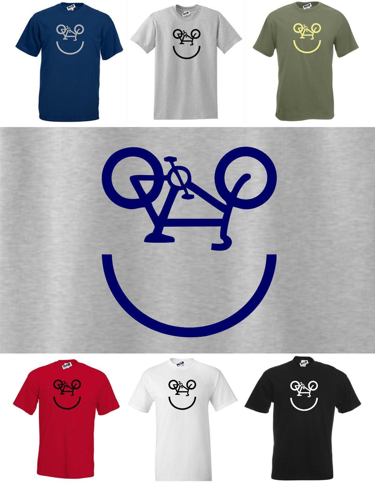 2019 nuevas del verano camiseta fresca Nueva divertido cyclings camiseta de la cara, las bicis / de bicicletas camisetas Camiseta de algodón