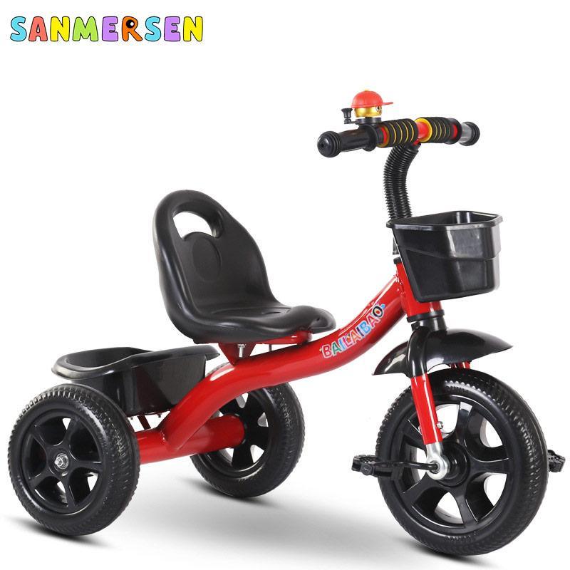Pedal New Kids triciclo bicicleta Encosto Bicicleta Scooter Com Pé Três Balance roda da bicicleta Scooter portátil Walker Car Kid presente