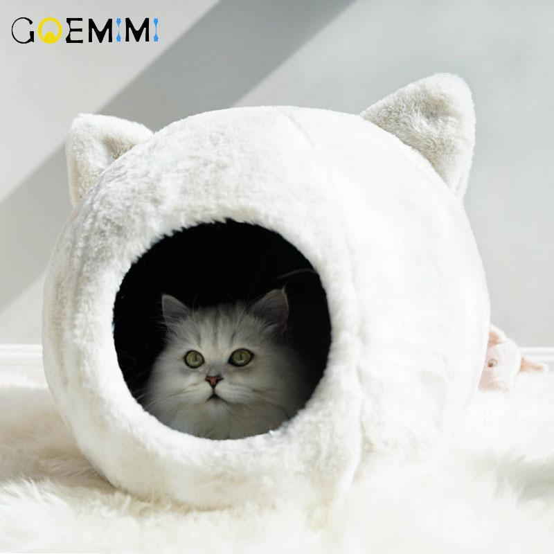 Cats Nest Sleeping Bed Winter Warm Cut Design Puppy Pet Kennel Top Quality dog beds mats House for Cats Y200330