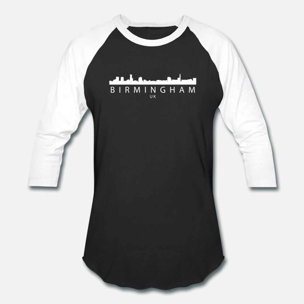 Birmingham Inglaterra Reino Unido Skyline T Shirt Men Anti-rugas 100% Algodão Tamanho Além disso 3xl Padrão Anti-rugas respirável Verão Outfit