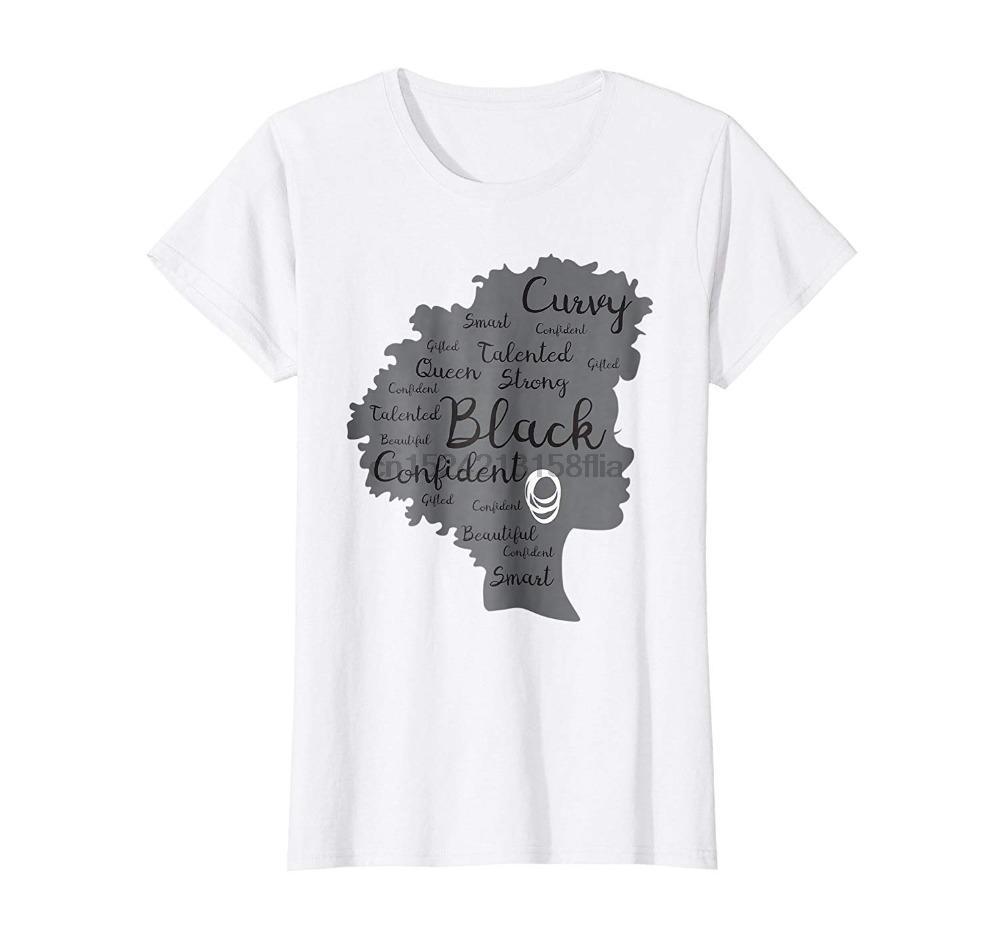 Hot tissu d'été de coton pour hommes T-shirt de haute qualité forte femme noire afro WordArt cheveux naturels Mélanine shirt 3D T-shirt imprimé