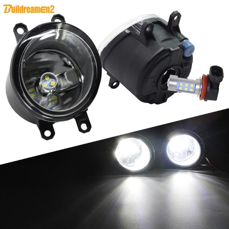 Sis Işık Montaj Araç Sağ + Sol LED Sis Lambası DRL H11 12V için LX570 RX350 RX450h IS250 IS350 GS350 GS460 ES300h ES350