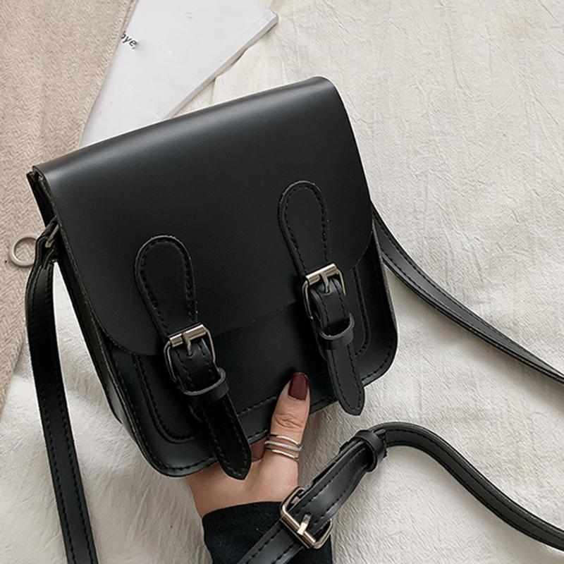 Hombro 2020 nuevos de lujo de la moda de las mujeres del bolso de cuero de las mujeres genuinas bolsas bolsas Crossbody de mensajero de las mujeres de cuero de color sólido Bolsa
