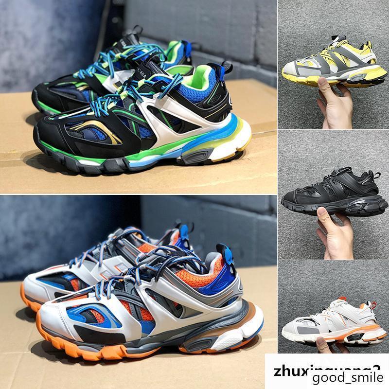 Llegada Triple S 3.0 Track las zapatillas de deporte para hombre de gran tamaño formadores de lujo para mujer Chunky zapatilla de deporte de los amantes de diseño zapatos que suben de los hombres al aire libre