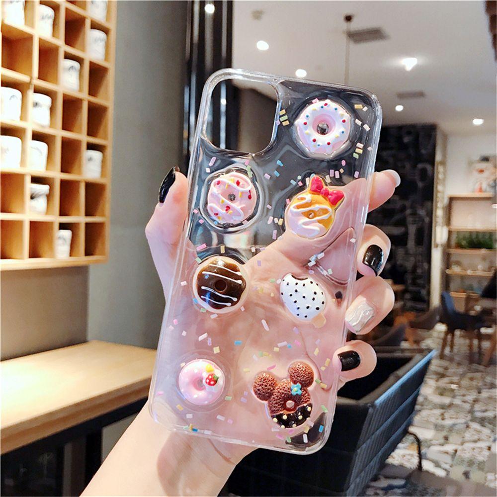 Karikatür 3D Kristal Sakızlı Şeker Renk Dondurma Telefon Kılıfı 2020 Pro X XS MAX Xr 7 8 Plus Yumuşak Kapak IPhone 11