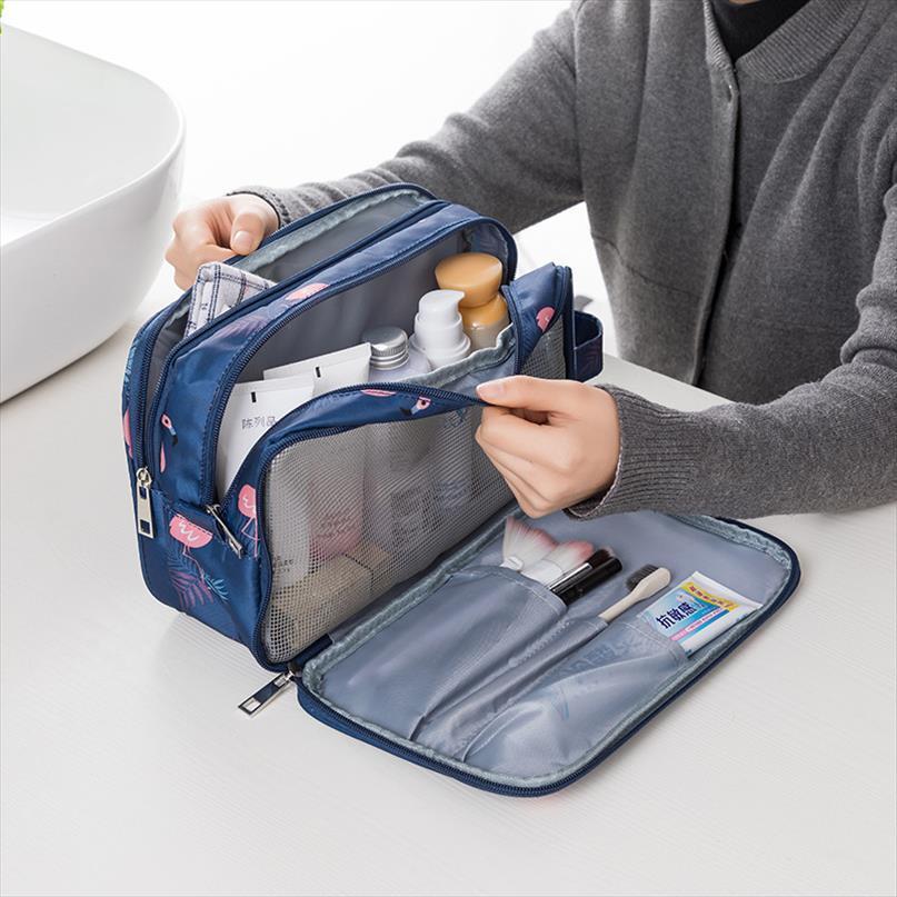 Organizador del recorrido en seco y en húmedo Separación de maquillaje profesional neceser bolsa de embalaje multi funcional Cubos para mujer bolso cosmético