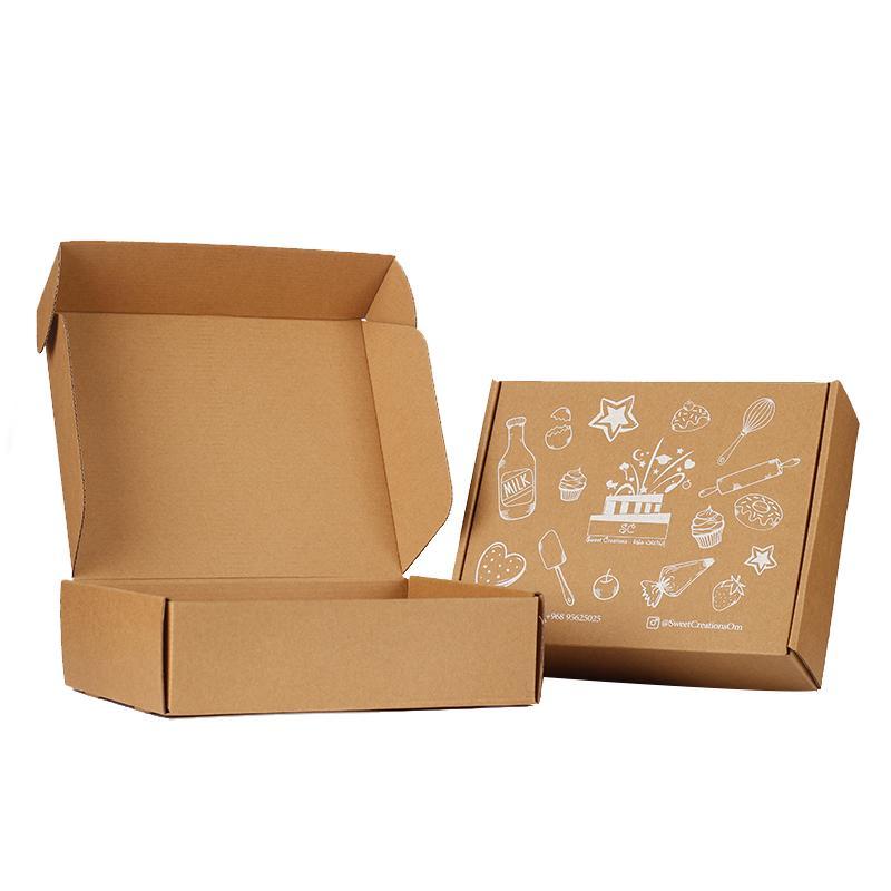 Logotipo de encargo 100 piezas de embalaje de cartón plegable aptos para la ropa de la bufanda, vestido de embalaje y pelucas de pelo caja de regalo