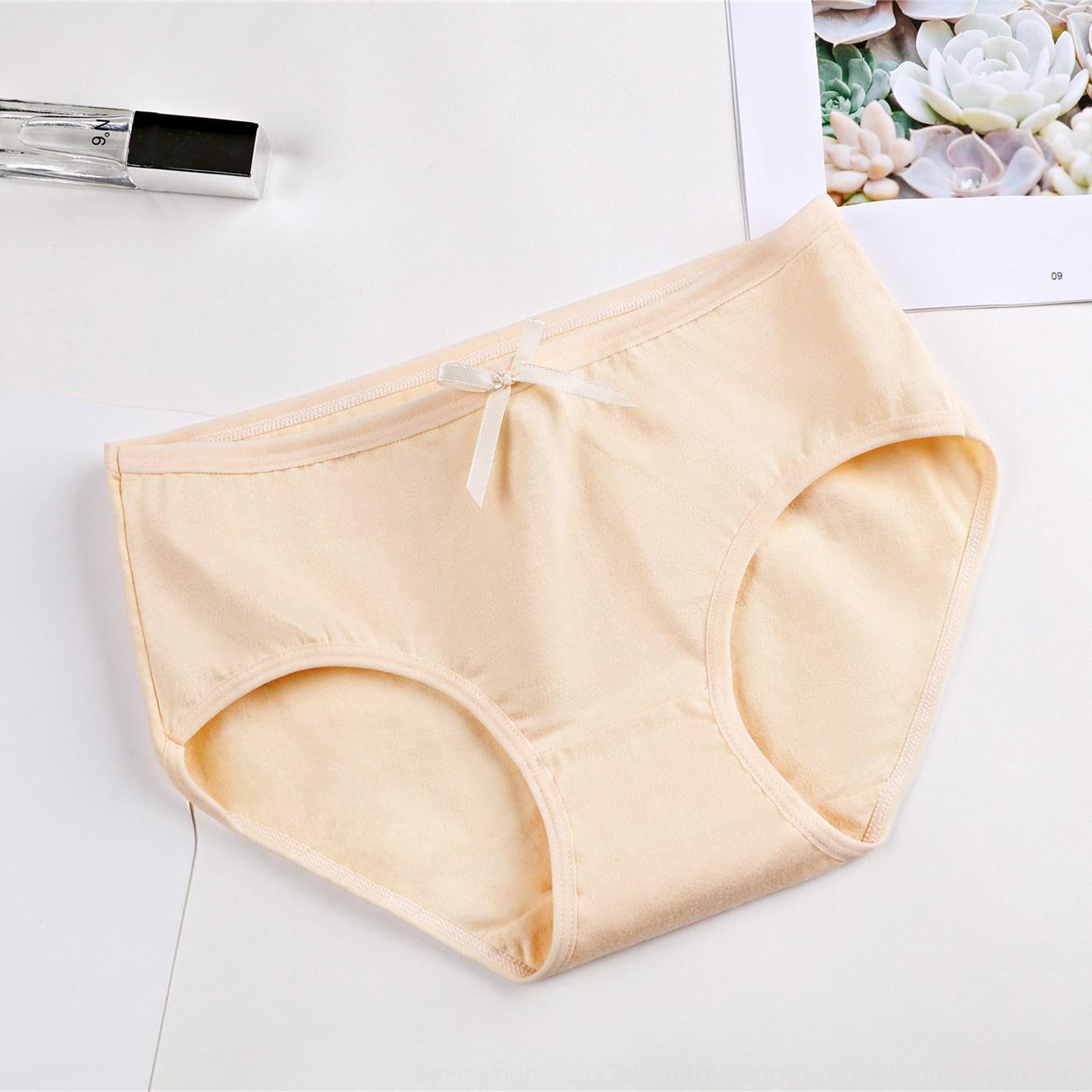 25Mn0 arco de las muchachas niñas y calzoncillos de algodón de la entrepierna de las mujeres pone en cortocircuito breifs Breifs de las mujeres de cintura baja linda 'tela de algodón Nuevos' escritos