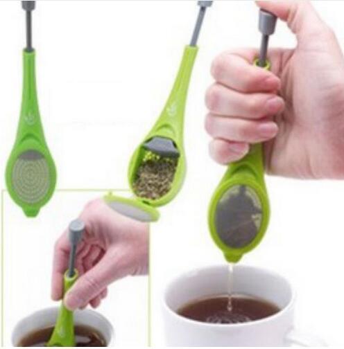 Machen Sie Tee-Beutel-Sieb-Teelöffel Filter Musik Halter Trinkgefäße Kochwerkzeug Küchen GB678
