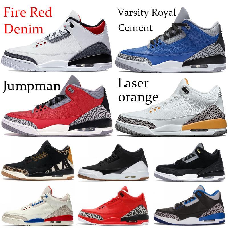 2020 النار الأحمر الدينيم jumpman iii og الرجال كرة السلة أحذية جوكر اسكواش الملكي الاسمنت SE الليزر البرتقال كرة السلة تشغيل أحذية رياضية المدربين