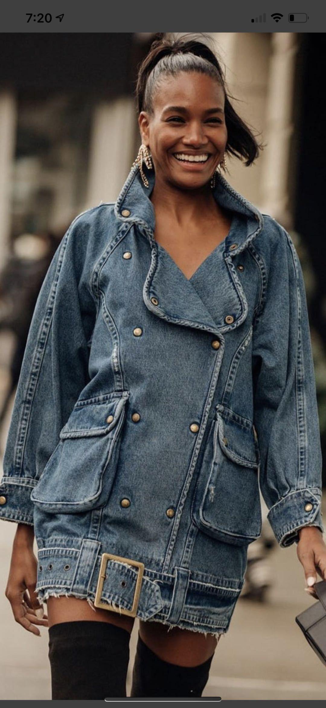 Женщины пальто вскользь Denim пальто куртка Женщина Vintage Длинных Жан пальто куртка женщина вскользь Жан Tops 2020 New