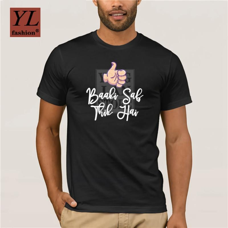Luva Fashion Street Verão curto T-Shirt 2020 T-shirt Ankush Tiwari exclusivo camisetas Baaki Sab Thik Hai Personalidade